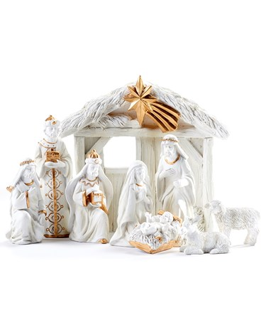 Polyresin Nativity Set, Set/9
