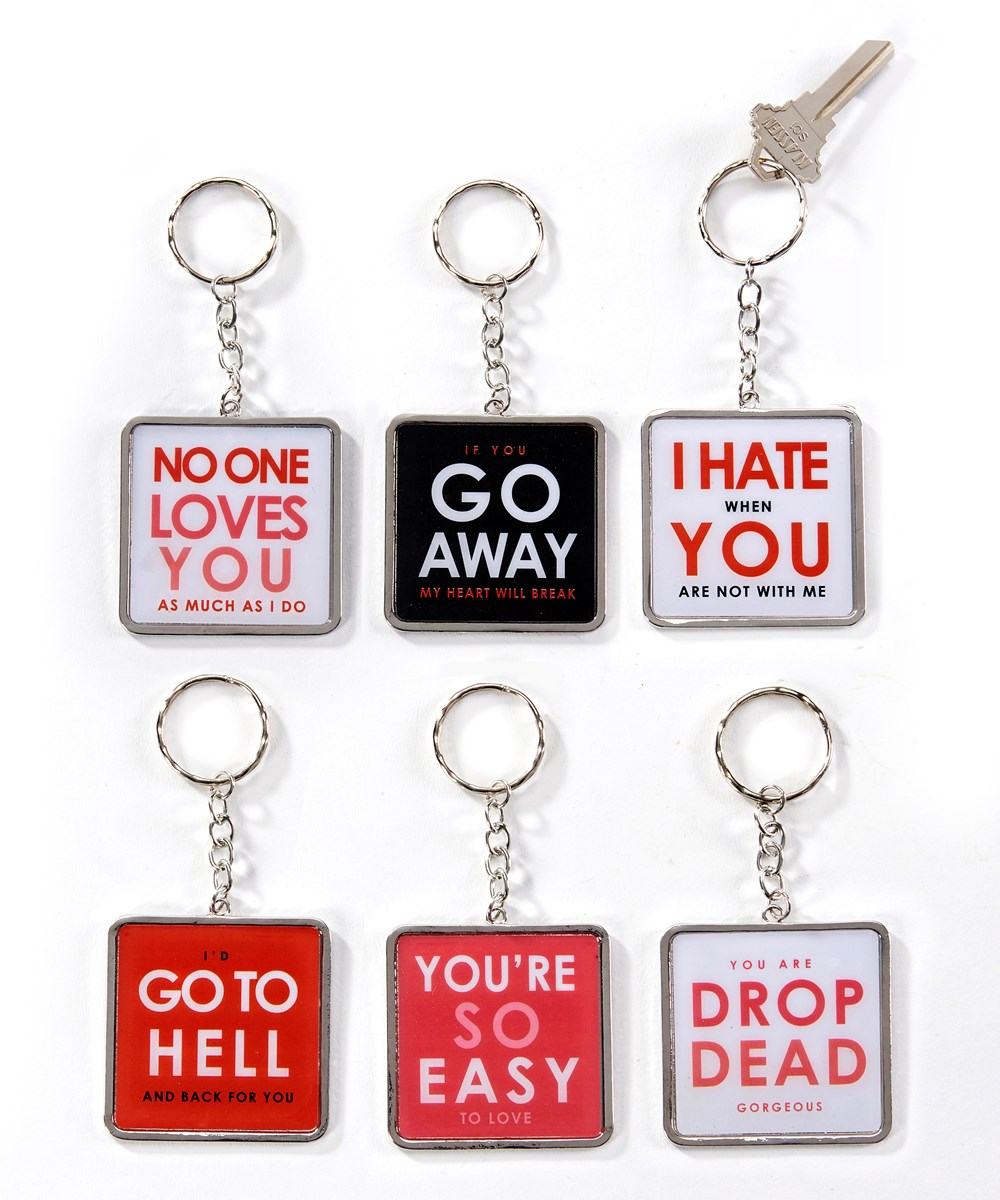 Quirky Keychains, 6 Asst. w/Displayer