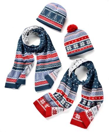 Knit Hat & Scarf Set, 2 Asst.