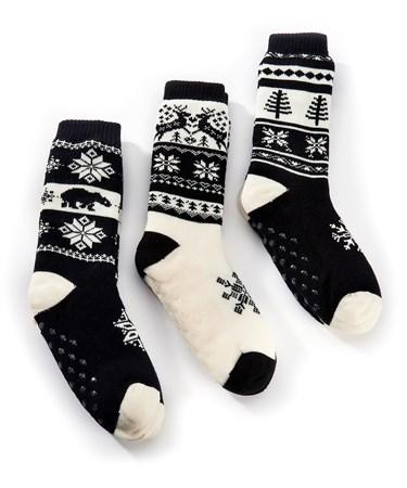 Cozy Snuggle Christmas Socks, 3 Asst
