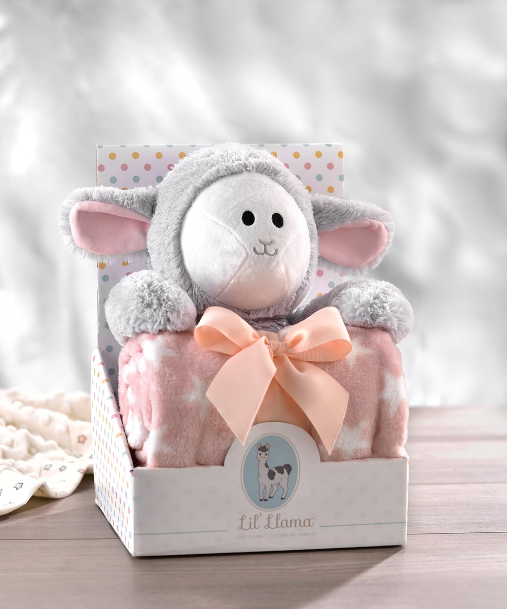 LiL' Llama Plush Toy & Blanket Set, 3 Asst.
