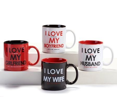 Ceramic Mug, 4 Asst.