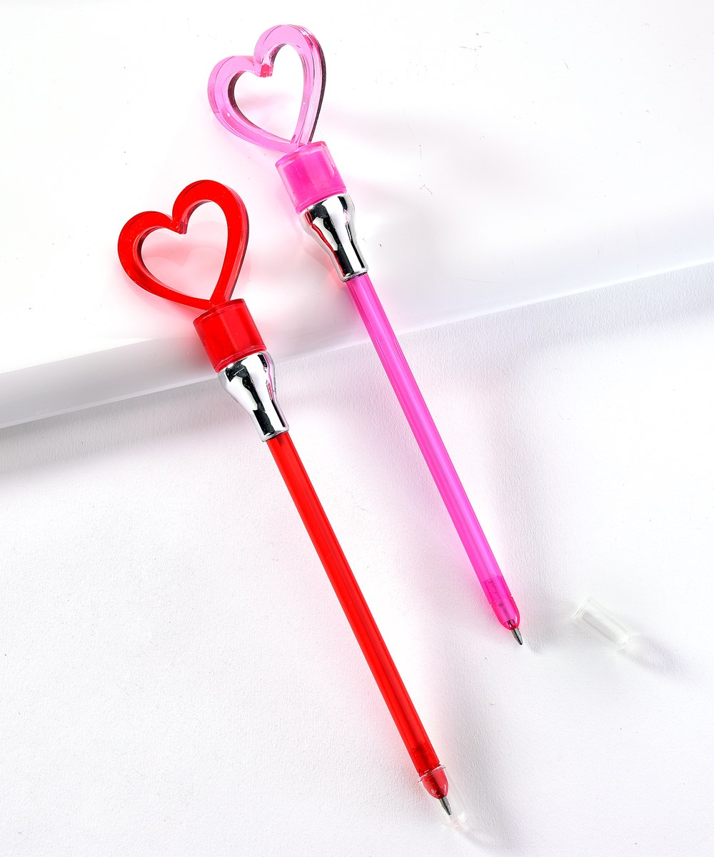 Light-Up Heart Pen, 2 Asst.