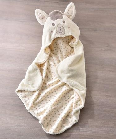 Lil' Llama Character Design Hooded Bath Towel