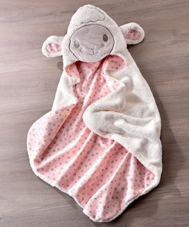 Lil' Lamb Character Design Hooded Bath Towel