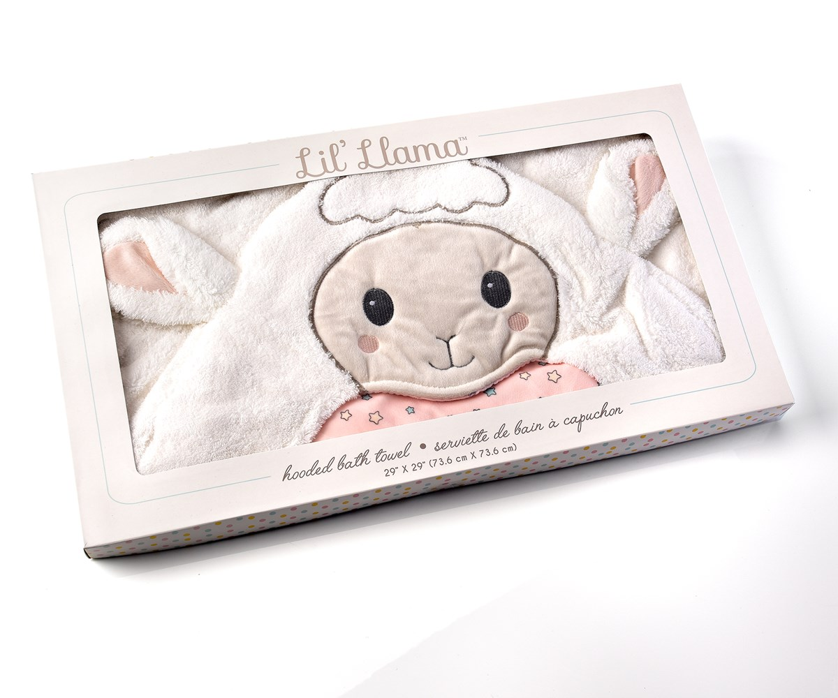 Lil' Lamb Character Design Hooded Bath Towel