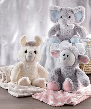 LiL' Llama Plush Toy & Blanket Set, 3 Asst.