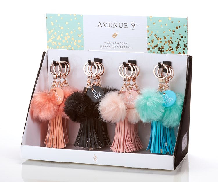 Avenue 9 The Spring Affair, PU/Pstc.Iphone Charg.Ball,12/D,4Ast