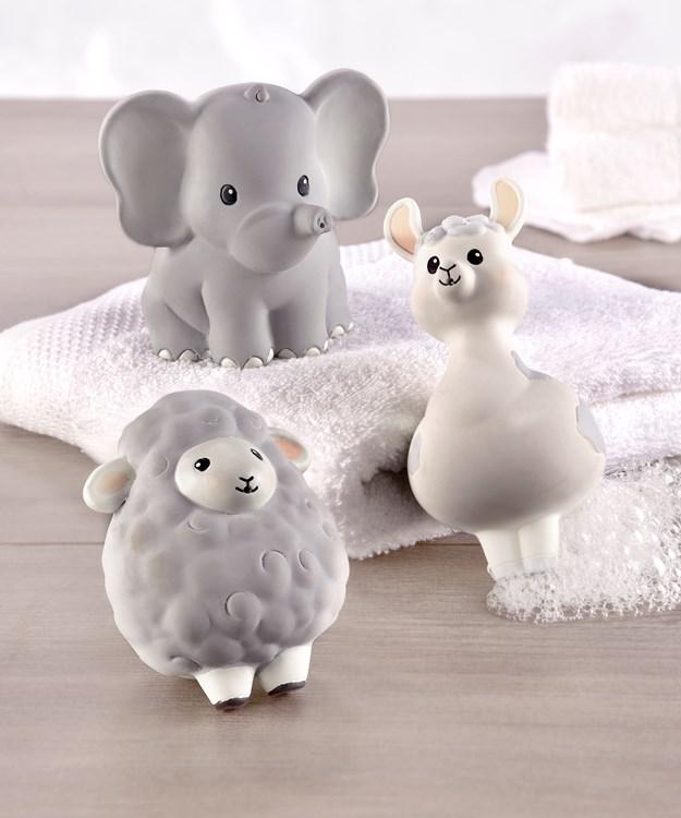 Lil' Llama Natural Rubber Bath Squirt Toys, Set/3
