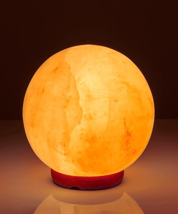 Earth Luxe Himalayan Crystal Salt Sphere Lamp
