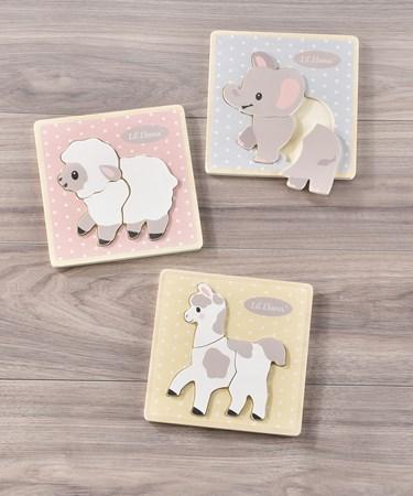 Wooden Toddler Puzzles, 3 Asst.