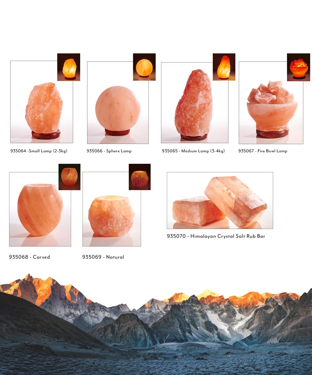 Earth Luxe Himalayan Crystal Salt Collection Asst.