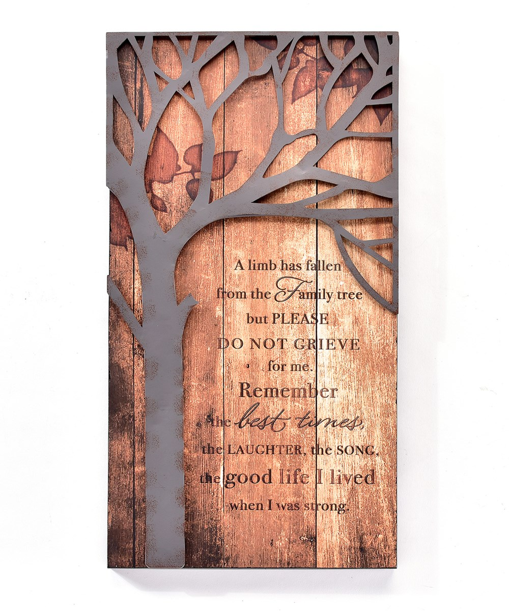 Wood & Iron Wall Plaque, Remember