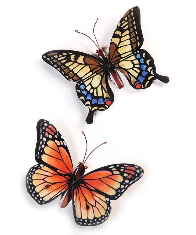 Iron Butterfly Design Wall Decor, 2/Asst.