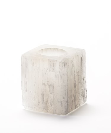 Earth Luxe Selenite Crystal Candleholder