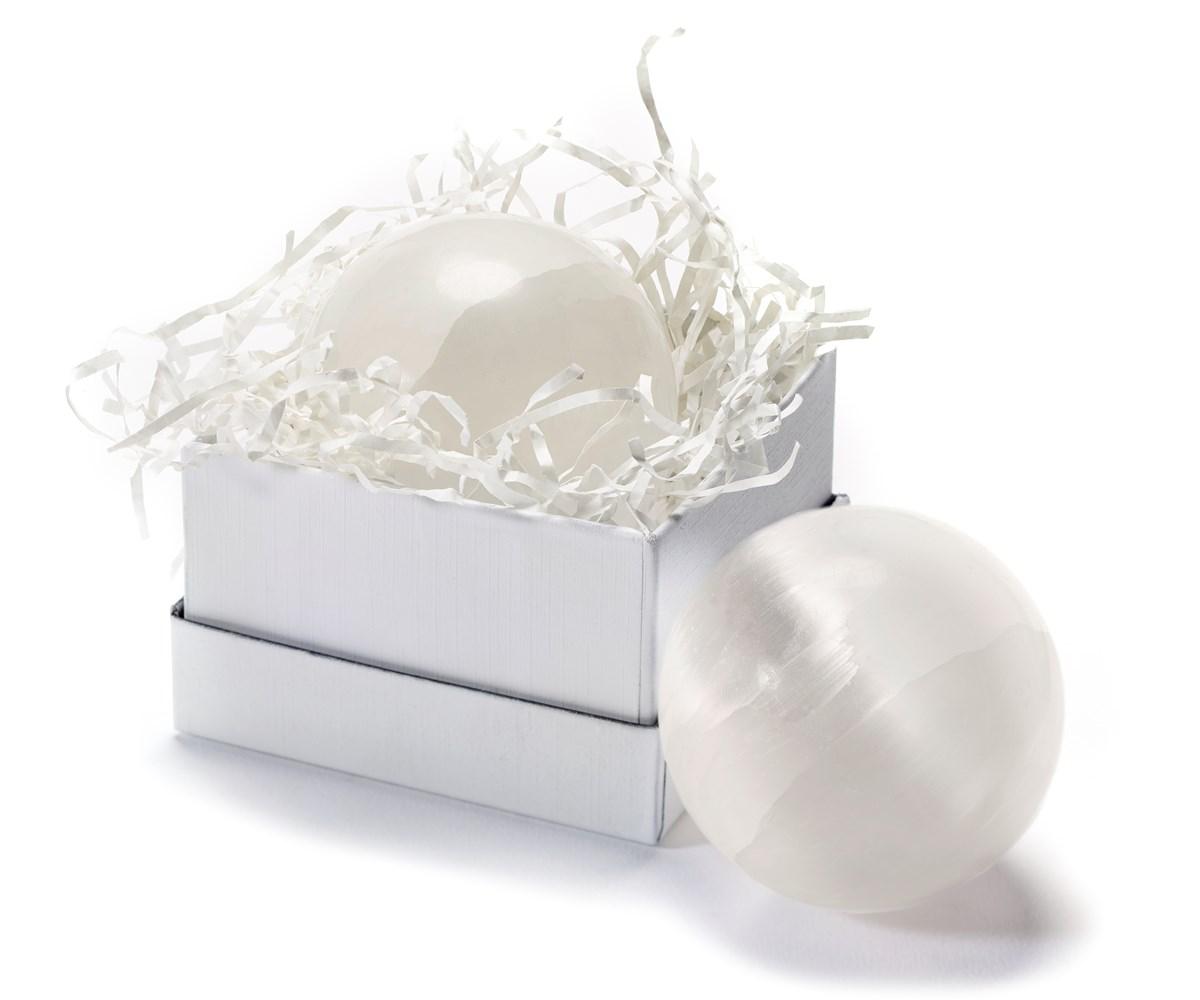 Earth Luxe Selenite Crystal Sphere