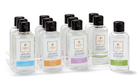 Earth Luxe Waterless Hand Cleanser with Essential Oil Asst. & Displayer