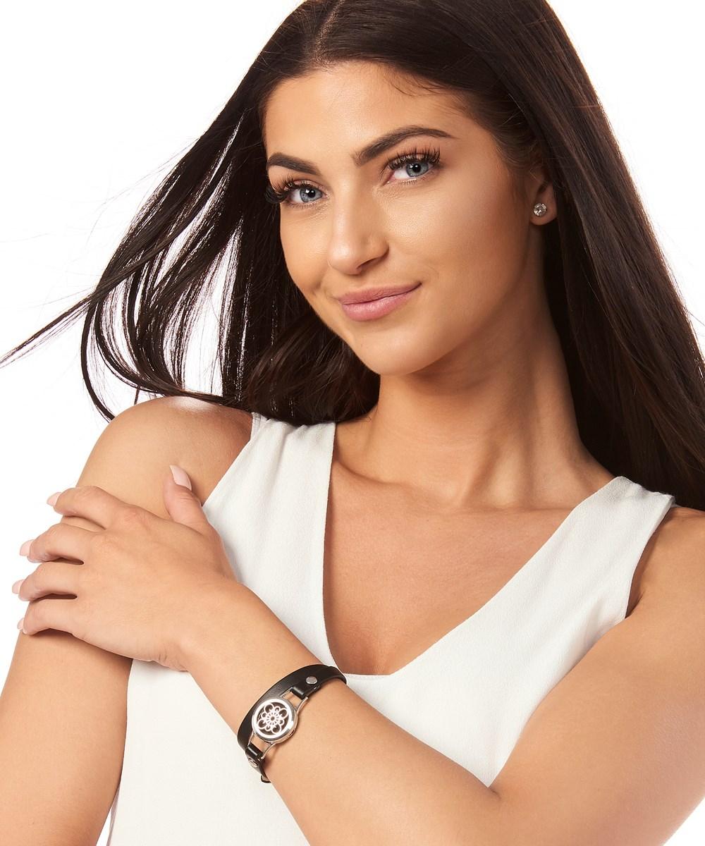 Aromatherapy Pendant Vegan Leather Bracelet, 3/Asst.