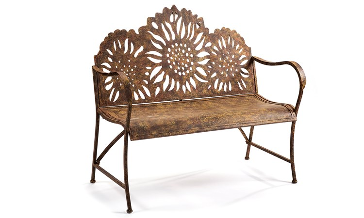 The Homestead Sunflower Design Bench