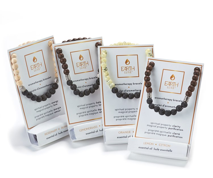 Earth Luxe Aromatherapy Bracelet & Essential Oil Asst. & Displayer