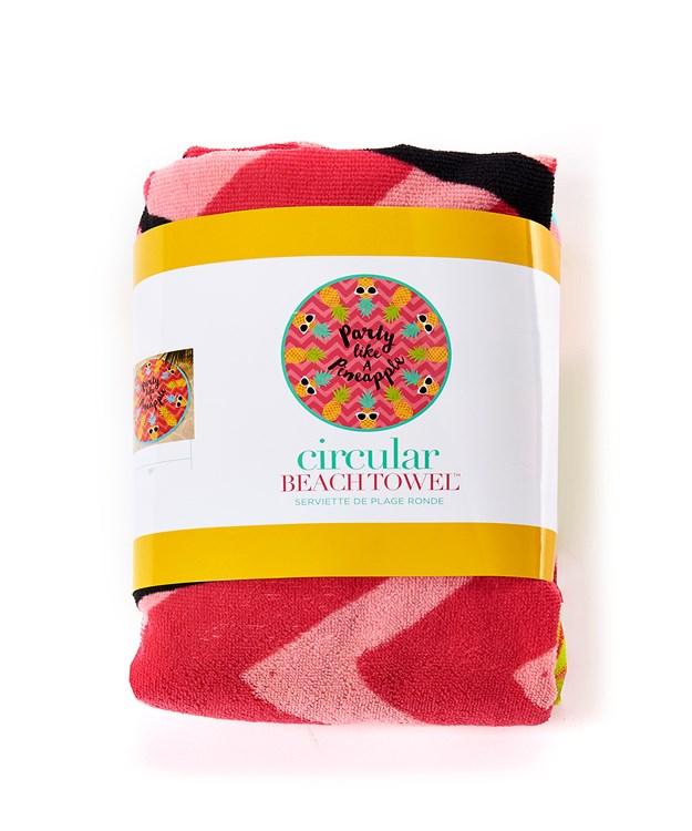 Pineapple Design Round Beach Towel