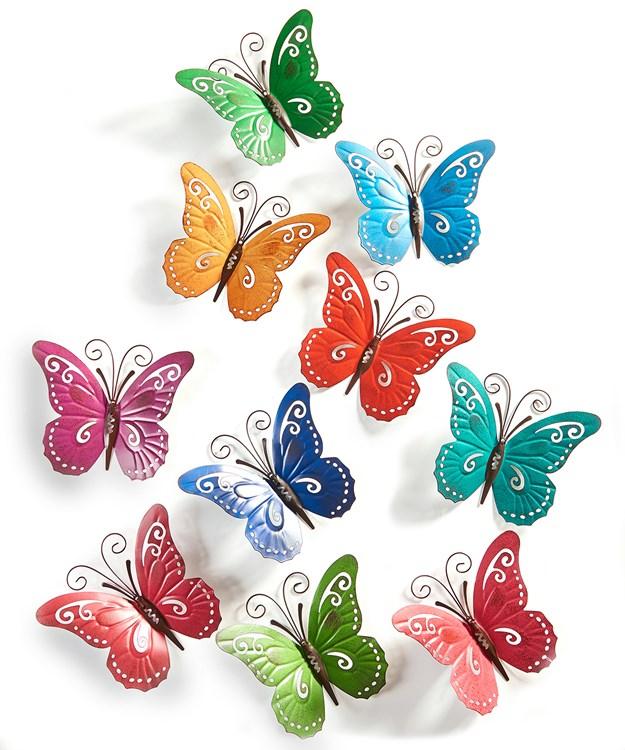 Pattern Play Butterfly Design Wall Decor, 10 Asst.