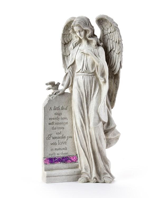Memorial Standing Angel Design Garden Stone