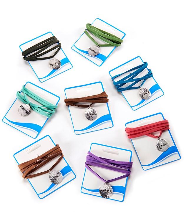 Wrap Bracelets, 24 Pieces w/Displayer