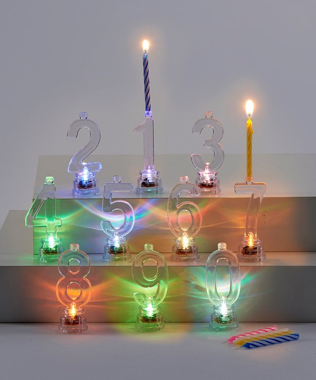 PS/LED Number Candle Kit, 10 Asst.