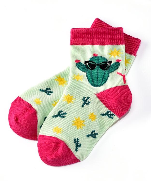 Socks (Girls / 1-2 Years), Cool Cactus