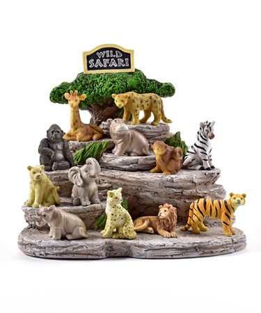 MiniGardenSafariAnimalDesignFigurines48PieceswDisplayer