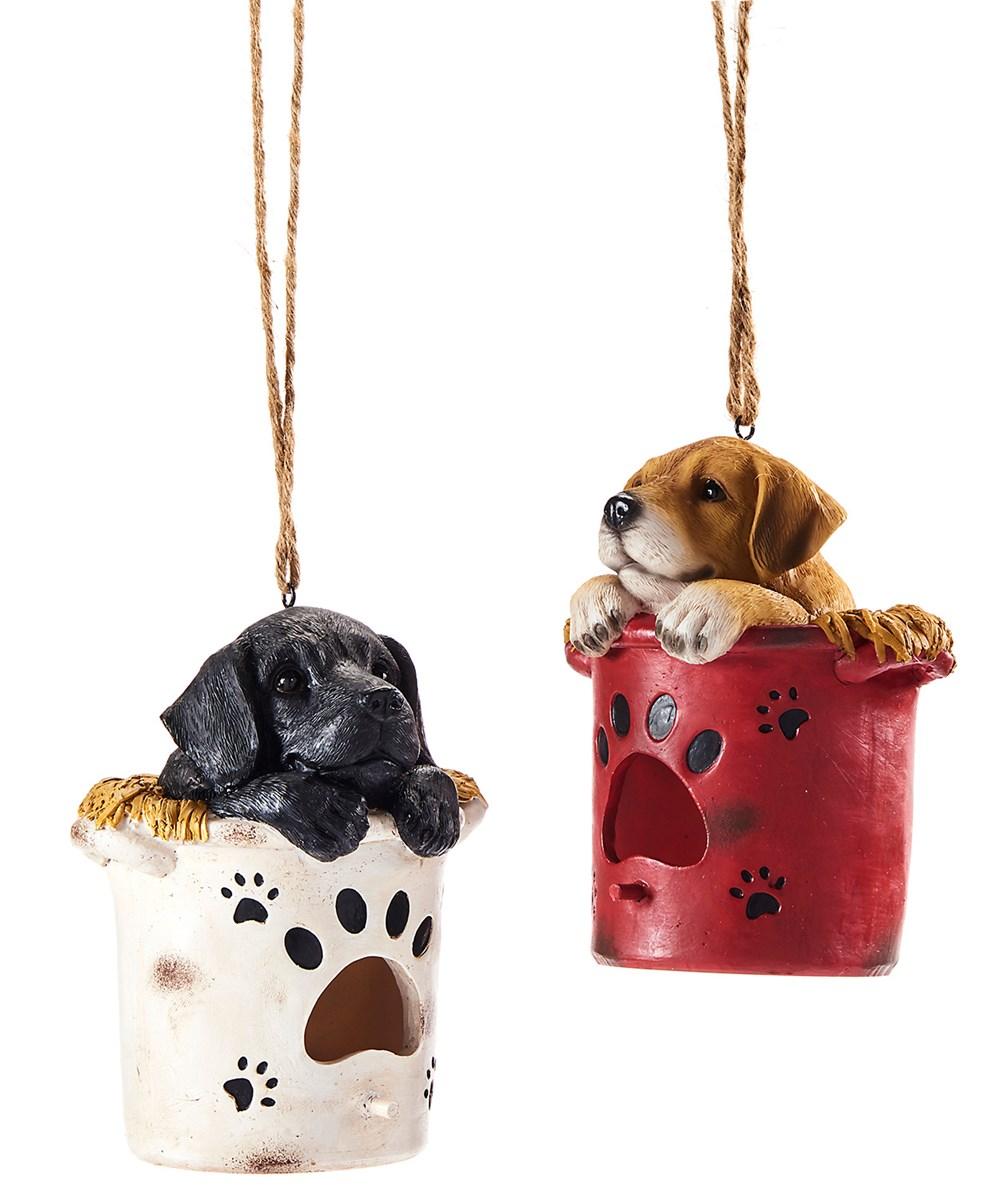 Dog Design Hanging Birdhouse, 2 Asst.