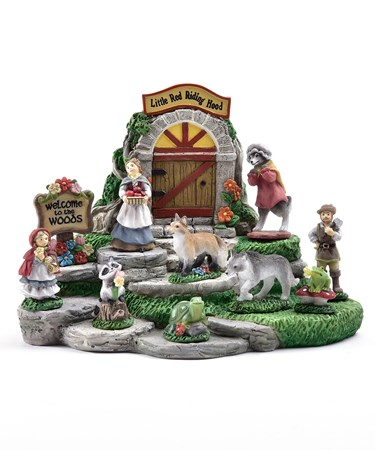 MiniGardenLittleRedDesignFigurines50PieceswDisplayer