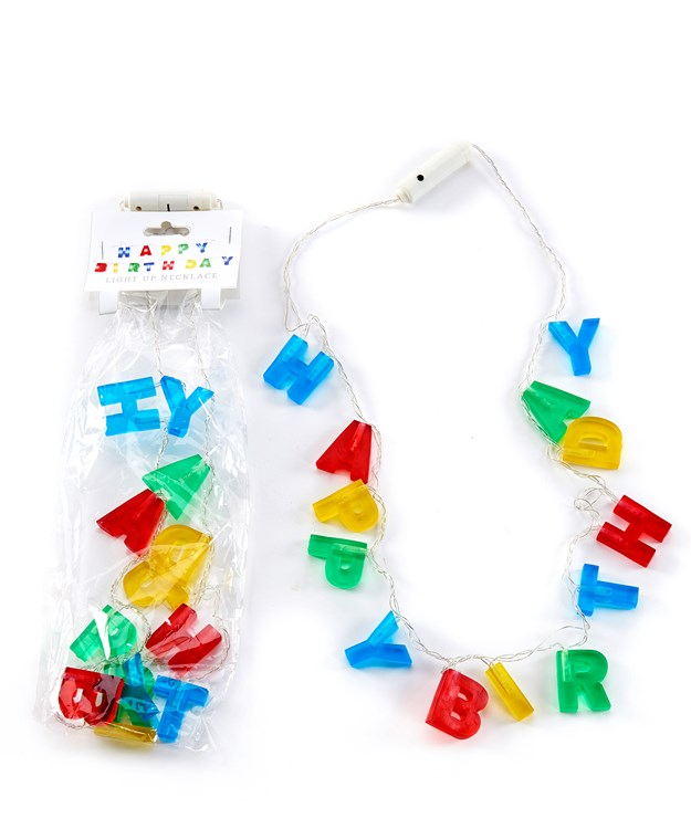 ABS LED Happy Birthday Letters Necklace w/Displayer