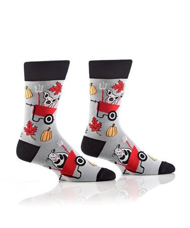 Men's Crew Sock, Barnyard Fun