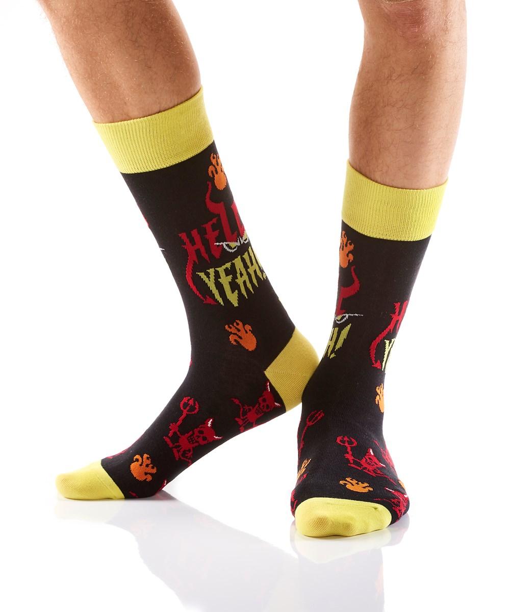 Men's Crew Sock, Hell Yeah