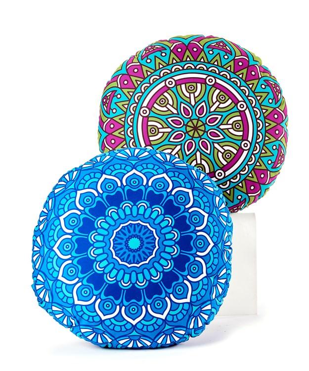 Mandala Design Pillows, 2 Asst.