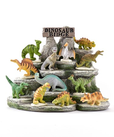 MiniGardenDinosaurDesignFigurines48PieceswDisplayer