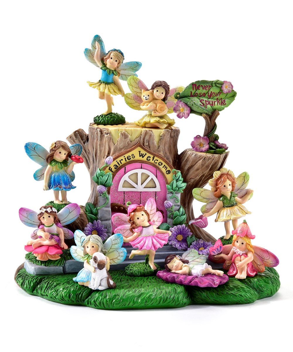 Mini Garden Butterfly Fairy Design Figurines, 50 Pieces w/Displayer