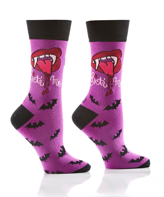 Women's Crew Sock, Bite Me