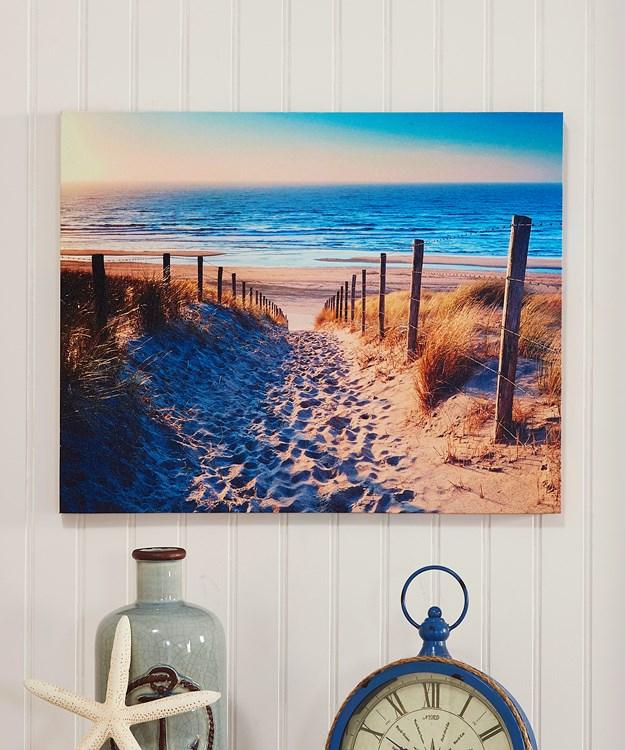 Beach Design Canvas Wall Print