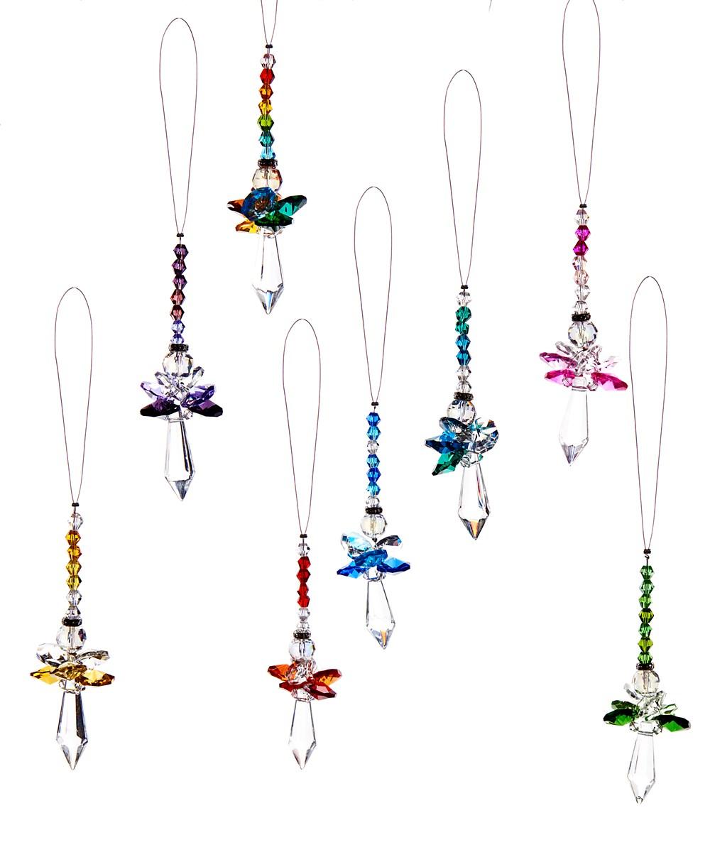 Prism Angel Design Ornament, 48 Pieces w/Displayer