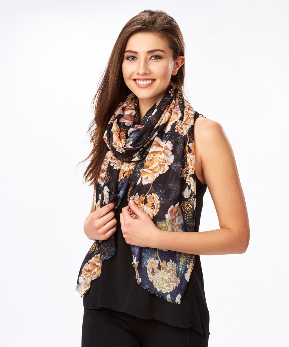 Polyester Color Scarf, 3 Asst.