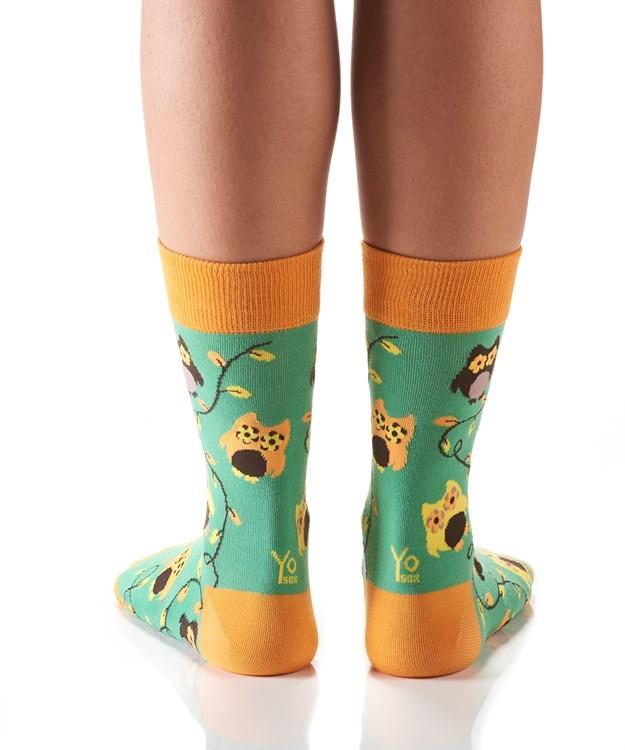 Women's Crew Sock, Owl Power