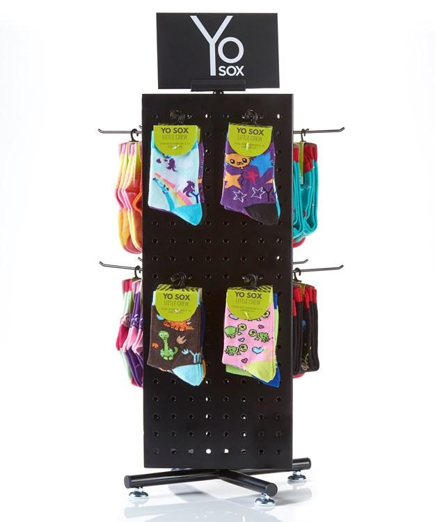 YoSox Kids Assortment, 109 pcs & Spinner Rack