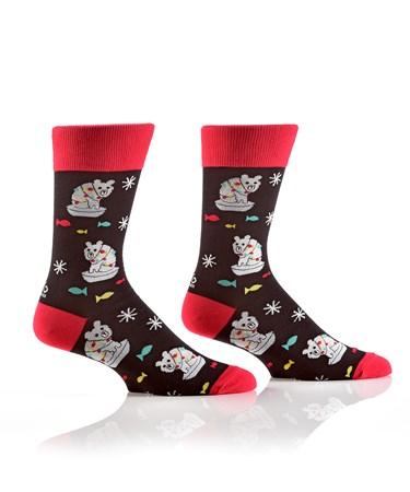 Men's Crew Sock, Polar Bear
