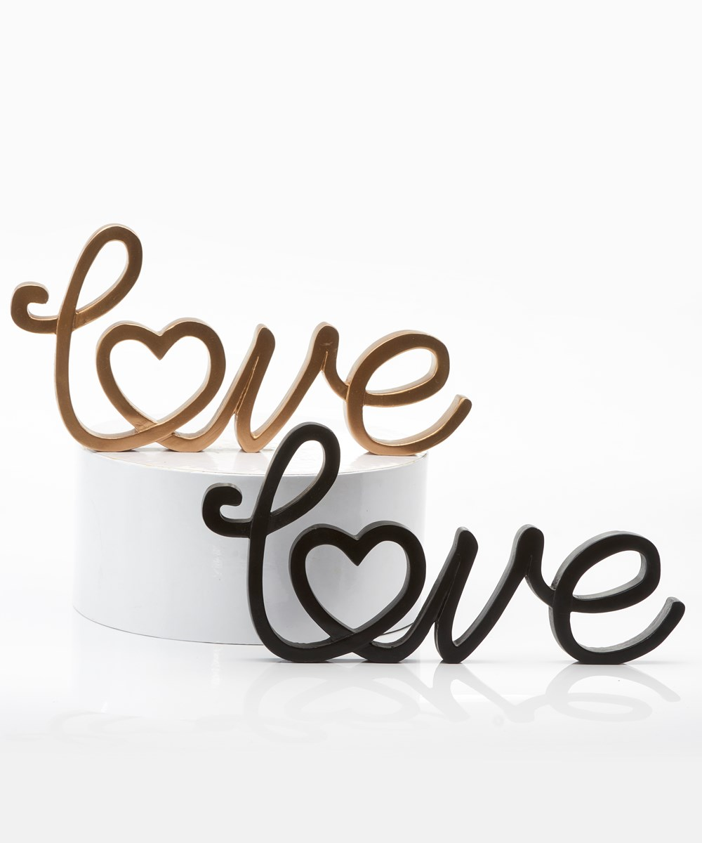 Poly Resin LOVE Design Decor, 2 Asst.