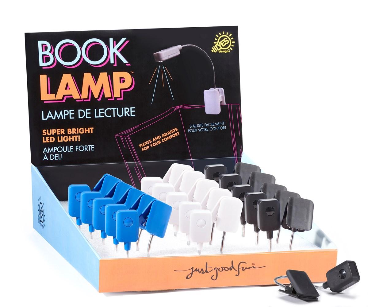 Book Light, 3 Asst. w/Displayer