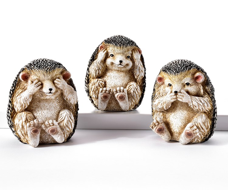 Hedgehog Design Figurines, 3 Asst.