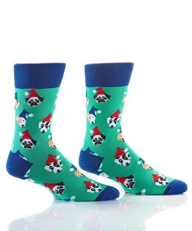 Men's Crew Sock, Pooches in PJs